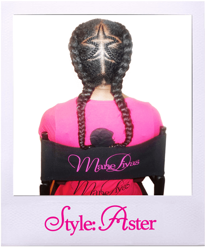 Aster hairstyle from the back